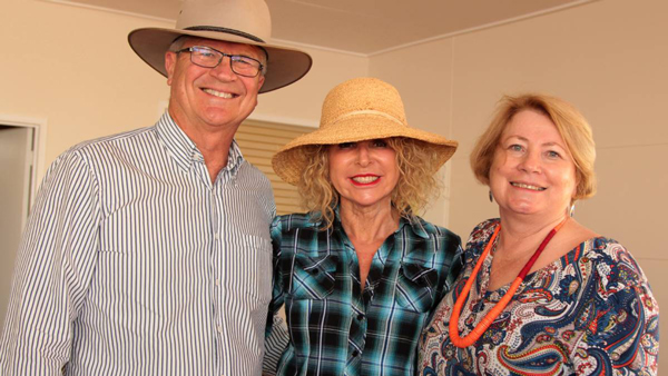 Greg and Michelle Young, Mooloolaba were among the group of friends visiting Leila Evans, pictured, and husband Chris. Greg is the CEO of horseproperty, the largest horse property website in the southern hemisphere and the second largest in the world, and was using his visit as an opportunity to speak with western agents about it and the newly-launched farmproperty website.